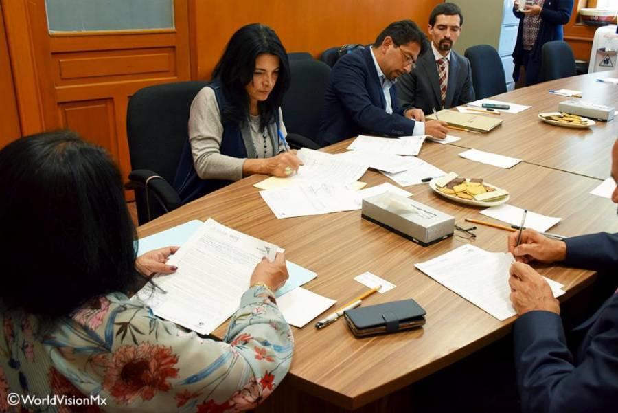 Establece World Vision y la Procuraduría Federal de Protección de Niñas, Niños y Adolescentes convenio de cooperación