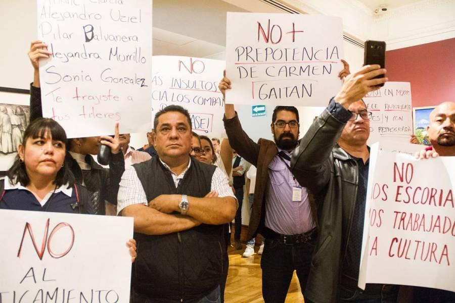 Sindicalizados toman las tres sedes del INBA