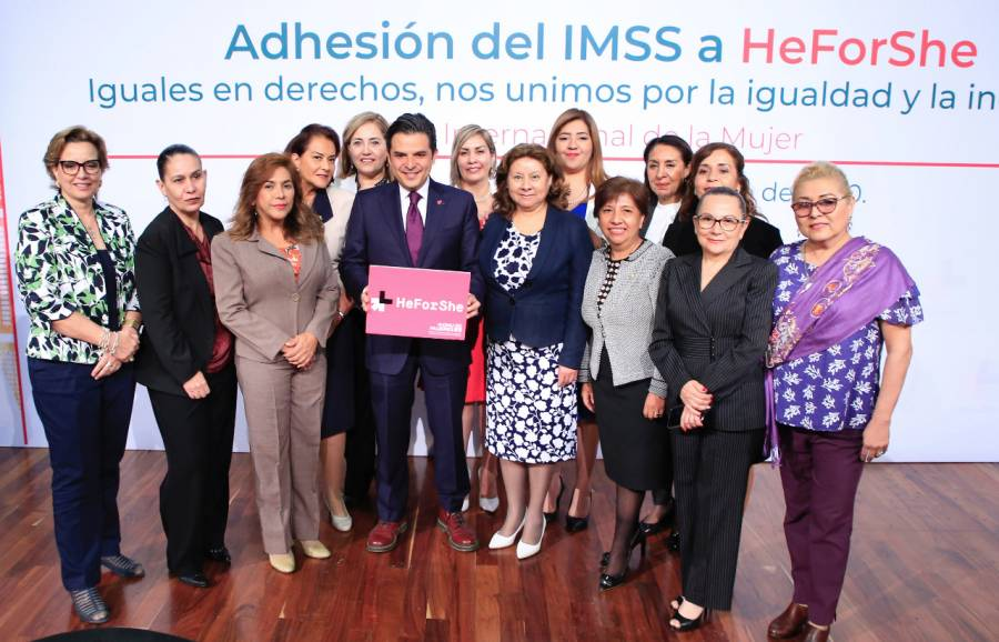 IMSS se une a la campaña HeForShe de la ONU