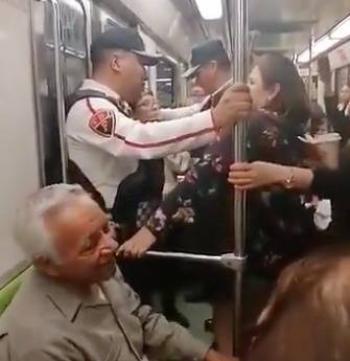 Hombre de la tercera edad causa polémica por ir en el vagón de las mujeres en el Metro