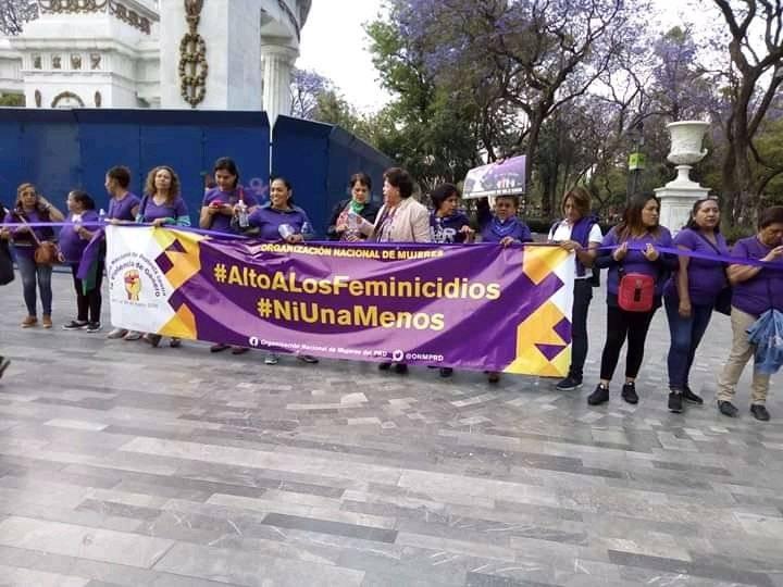 Ya basta de violencia: Cadena Feminista en la CDMX