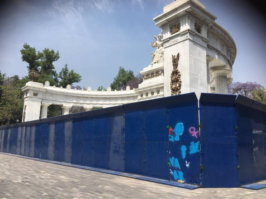 Resguardan monumentos del centro histórico por marcha del #8M