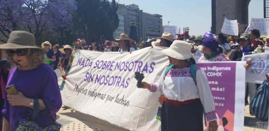 Se lleva a cabo marcha por el #DíaInternacionaldelaMujer en CDMX