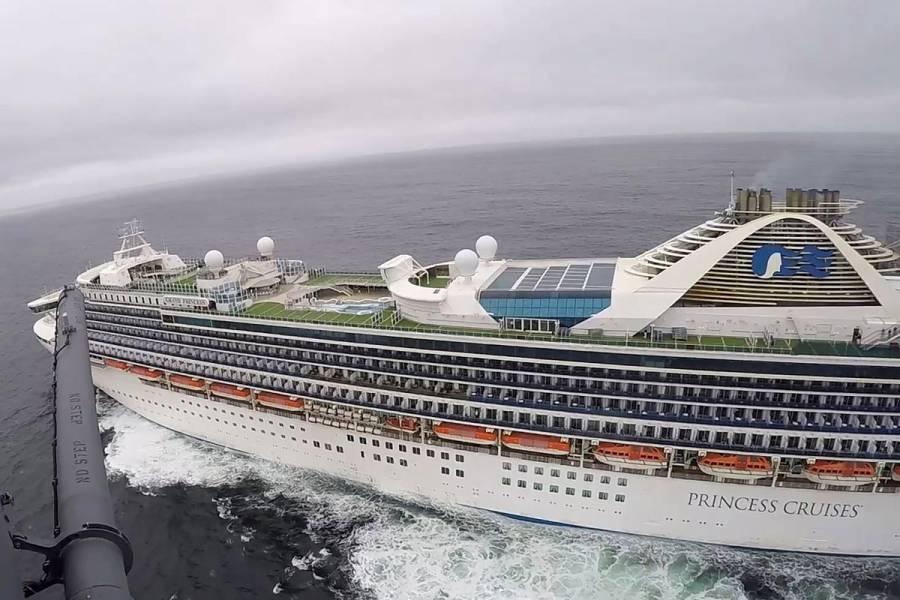 """Crucero """"Grand Princess"""" desembarcará en Oakland"""