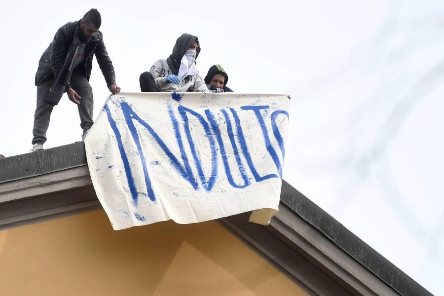 Reportan disturbios en 27 cárceles italianas por Covid-19