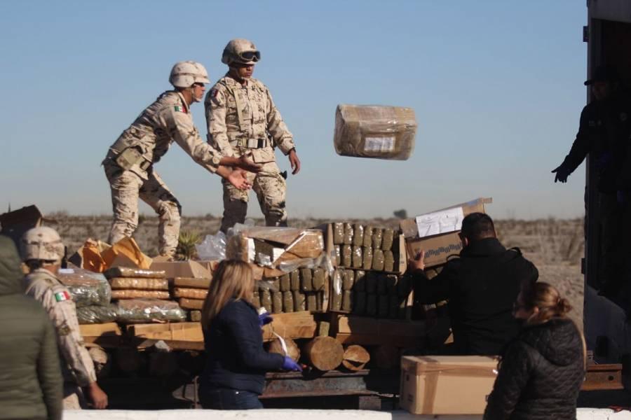 GN asegura más de una tonelada de cocaína en Chiapas