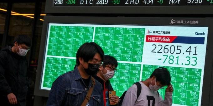 La Bolsa de Tokio se desplomó 5.07 por ciento