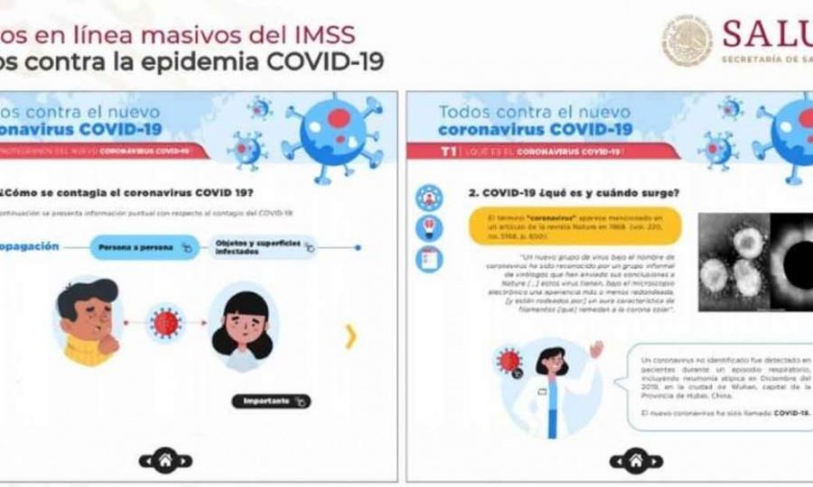 IMSS lanza curso en línea sobre coronavirus