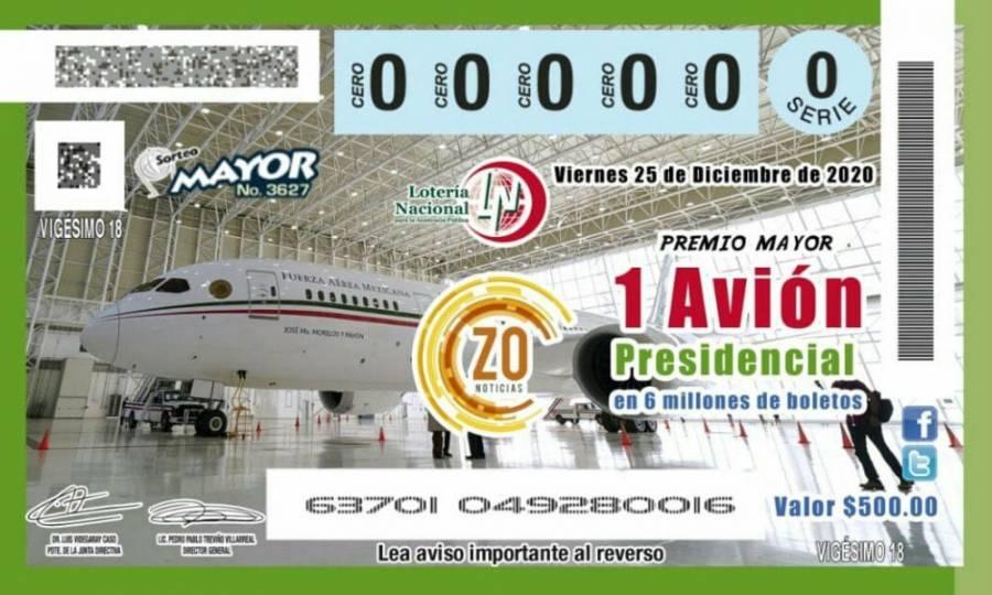 """Inicia oficialmente la venta de """"cachitos"""" de la lotería para el avión"""