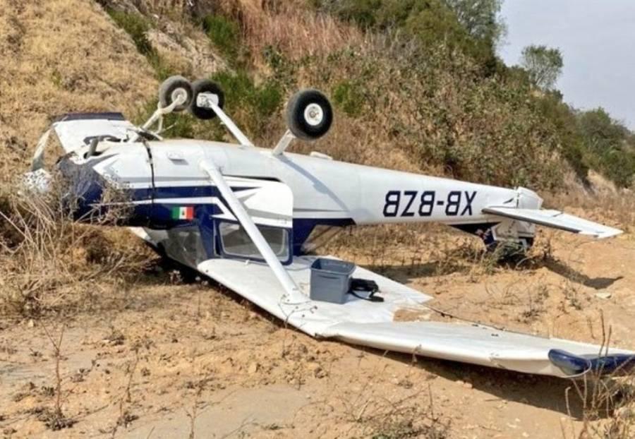 Avioneta se desploma en Atizapán de Zaragoza