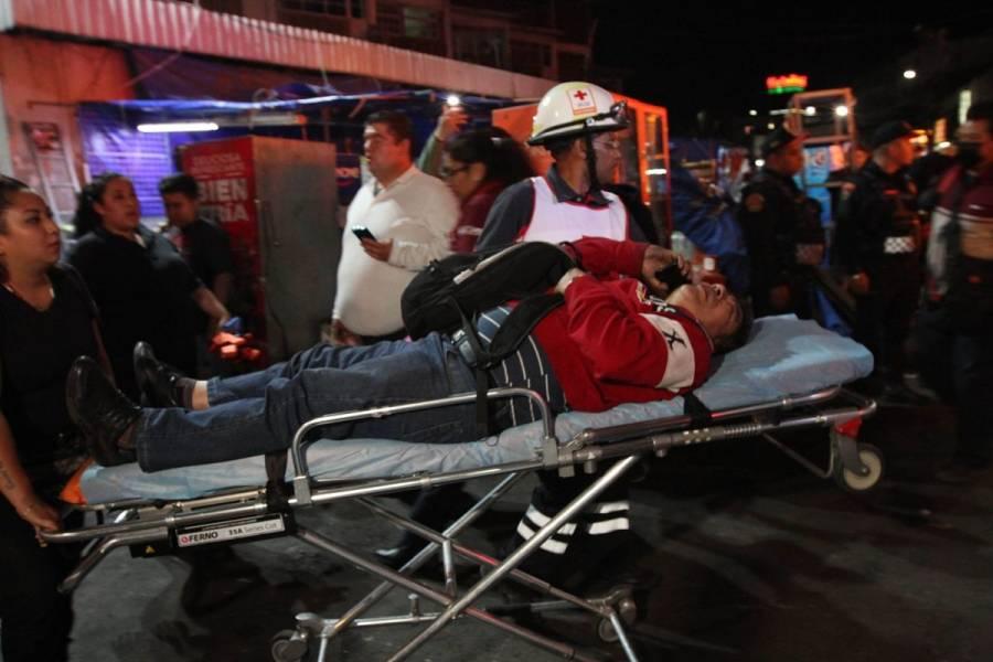 Deja 41 heridos y un muerto choque de trenes en Metro Tacubaya
