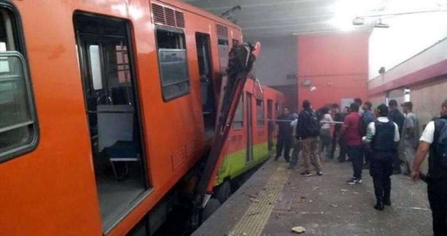 Sin servicio 4 estaciones del Metro tras choque de trenes en Tacubaya