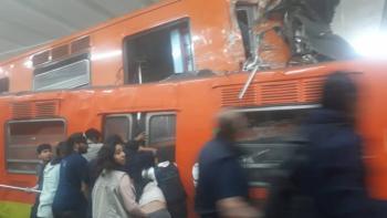 Chocan dos trenes del STC Metro en la estación Tacubaya. Fallece una persona
