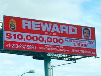 DEA: Ofrece 10 mdd por 'El Mencho'