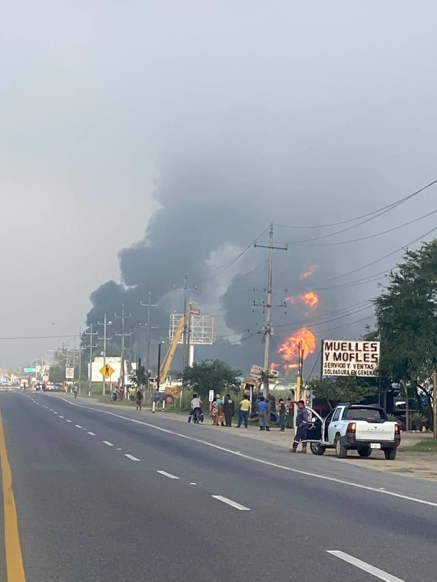 Explosión en Tabasco por bodega que traficaba combustible