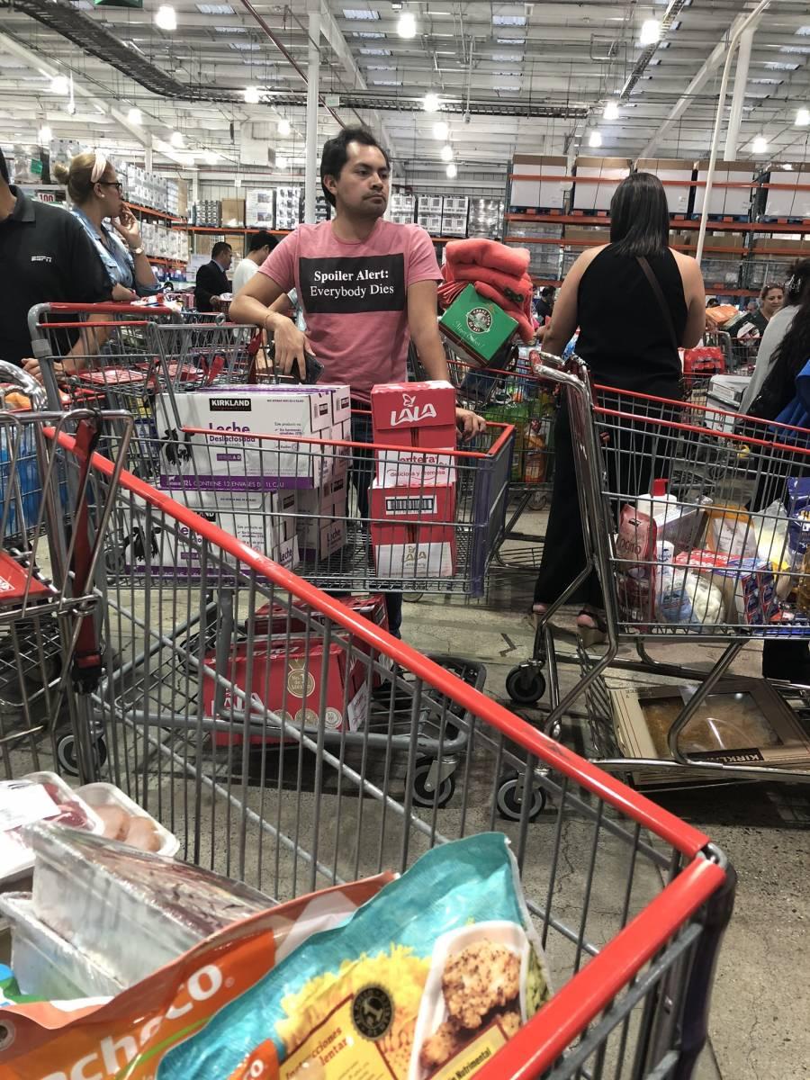 Reportan compras de pánico en Costco por coronavirus
