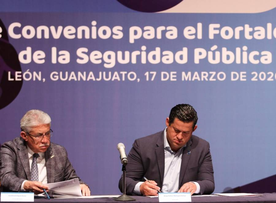 Firman gobierno de Guanajuato y municipios convenios sobre Seguridad Pública