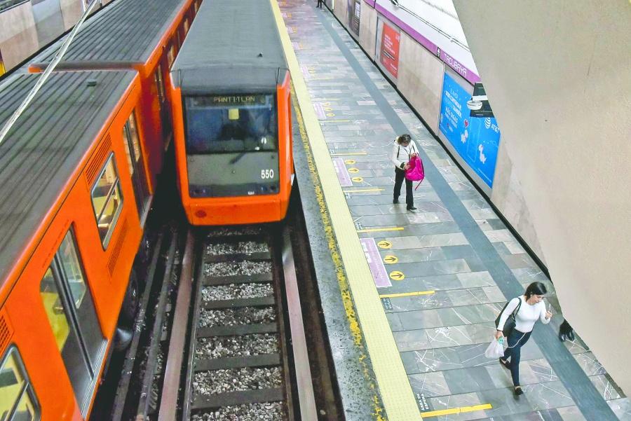 Tras choque, Metro reanuda servicio