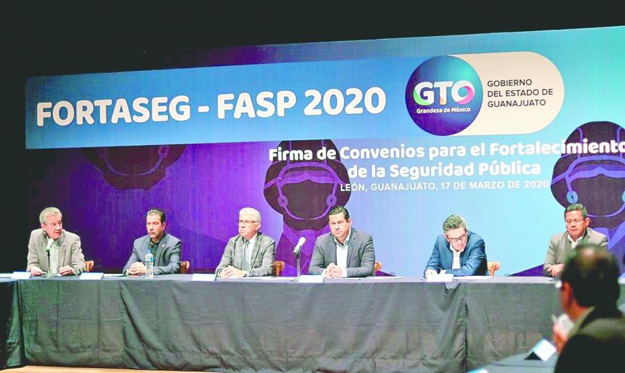 Fortalecen seguridad en Guanajuato con recursos