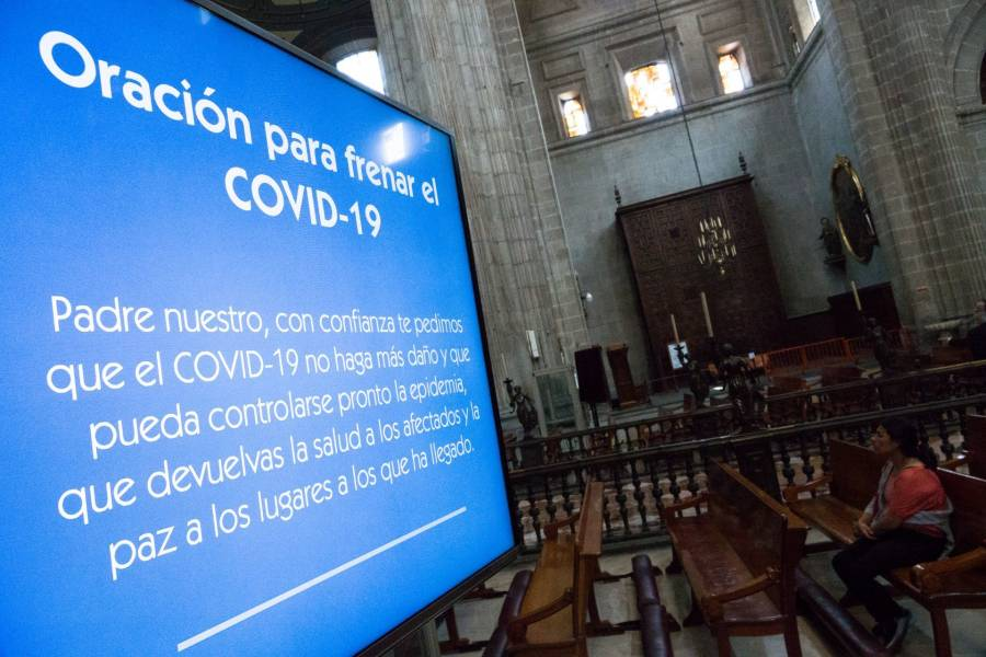Catedral Metropolitana vacía por coronavirus