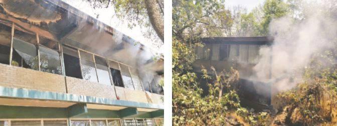 Encapuchados provocan incendio en el CCH Sur