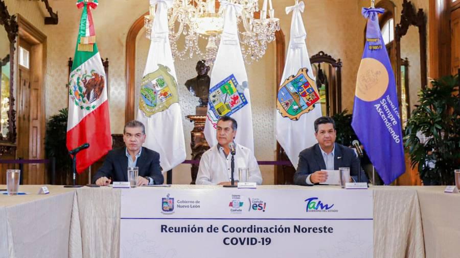 Acuerdan cerco sanitario Nuevo León, Tamaulipas y Coahuila