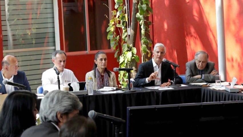 Sheinbaum y Del Mazo se reúnen para definir acciones contra el Covid-19