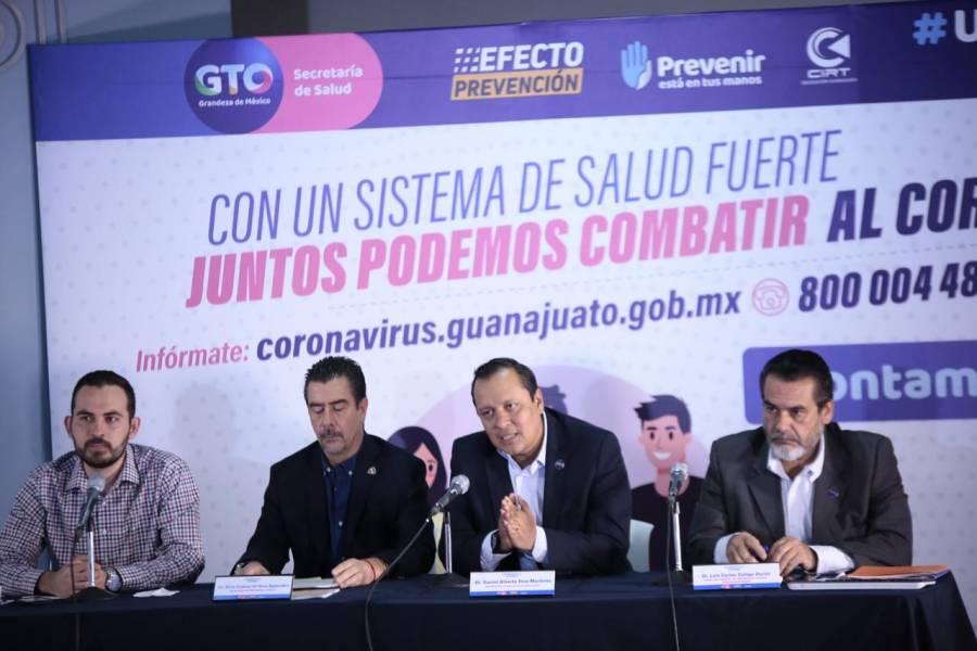 Guanajuato se mantiene en Fase Uno, con cuatro casos confirmados de Covid-19