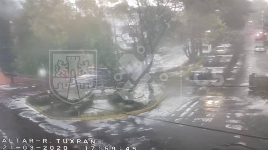 Activan Alerta Amarilla en 6 alcaldías por lluvia con granizo