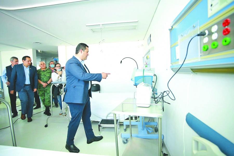primer hospital para Covid-19: sinhue
