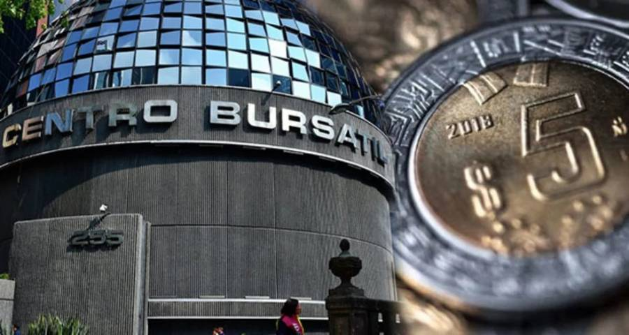 BMV cayó 3.81 por ciento; el peso rompió la barrera de los 25 dólares