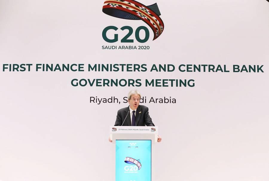 Por teleconferencia, sesión de ministros del G20