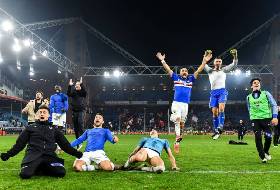 Tras cinco casos de Covid-19, Sampdoria concluye cuarentena