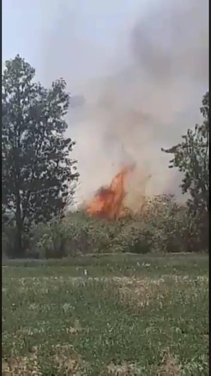 Bomberos combaten incendio en Oaxaca, sucedió en Villa de Etla