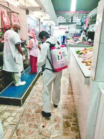 Neza inicia sanitización de espacios públicos