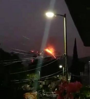 Incendio en cerro de la alcaldía Gustavo A. Madero