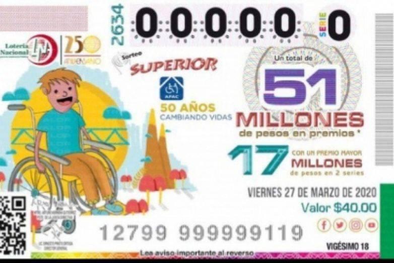 Cancela Lotería Nacional sorteos del 29 de marzo al 19 de abril