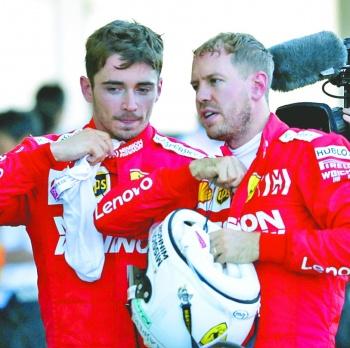 Ferrari le pone un año de caducidad a Vettel; Leclerc reclama