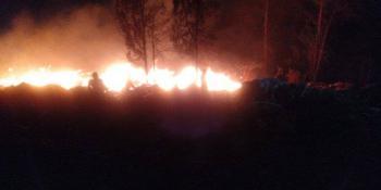 Se registra incendio en la zona del Cerro de la Estrella, alcaldía Iztapalapa