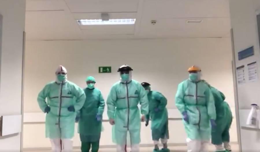 """Médicos españoles bailan """"Single Ladies"""" en medio de la pandemia"""