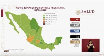 Asciende a 50 el número de muertos por coronavirus en México