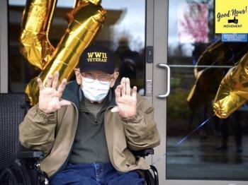 Veterano de guerra de 104 años gana batalla al coronavirus