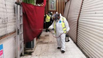 Cuajimalpa implementa operativo de sanitización en comercios por Covid-19
