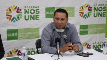 Aplican sanitización permanente en espacios públicos de Soledad, SLP