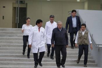"""""""Hospital al Sur de la CDMX para atención de pacientes de Covid-19 esta listo"""": AMLO"""