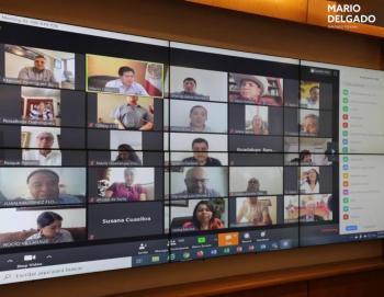 Diputados de Morena se reúnen virtualmente por Covid-19