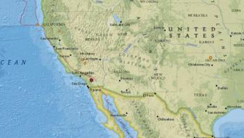 Se registra sismo de magnitud 4.9 en California, EU