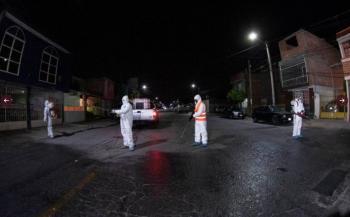 Sigue la sanitización en espacios públicos de Soledad