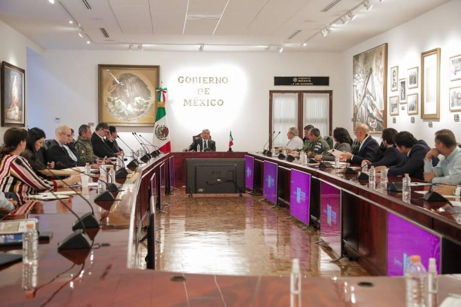 AMLO se reúne con gabinete para enfrentar al Covid-19