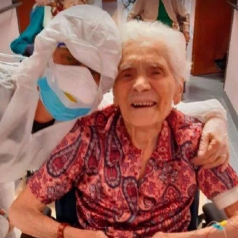 Con 104 años de edad, mujer italiana vence al Covid-19